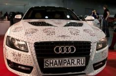 The Swarovski Audi A5 takes customizing your ride to a whole new level! The car, owned by Russian tuner Shampa, is covered in 450,000 Swarovski crystals. According to Oddity Central, it took 1,440 man…