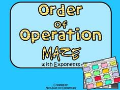 Order Of Operation Maze (with Exponents) Worksheets Math Helper, Maze Worksheet, Math Magic, Order Of Operations, Math Strategies, 5th Grade Math, Worksheets For Kids, Special Education, Problem Solving