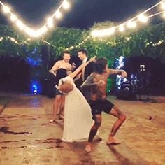 Oli and Hannah dancing at their wedding