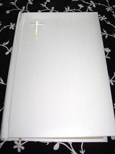 Biblia / Romanian Bible White Cover with Golden Edges and Golden Cross / Biblia Sau Sfanta Scriptura A Vechiului Si Noului Testament / Great wedding gift