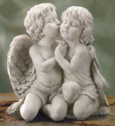cute-love-quotes - Your Fun Pics Angels Among Us, Angels And Demons, Angel Sculpture, Sculpture Art, Entertaining Angels, I Believe In Angels, Ange Demon, Garden Angels, Sculptures