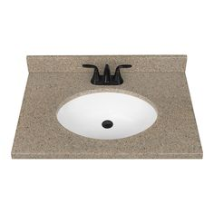 Nutmeg Solid Surface Integral Single Sink Bathroom Vanity Top Common 31 In X