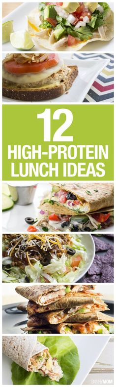 High-Protein Lunch Ideas Try these 12 high protein lunches.Try these 12 high protein lunches. High Protein Lunch Ideas, High Protein Low Carb, High Protein Recipes, High Protien, Protein Power, Healthy High Protein Meals, Protein Dinners, Muscle Protein, Protein Rich Foods