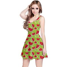 8490bf501ebdd CowCow Womens Summer Hawaii Beach Surf Tropical Fruits Toucan Sleeveless  Dress
