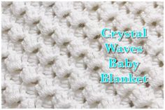 Extended double crochet stitch for baby blankets and more Welcome to my channel Crochet for Baby. In todays tutorial I will show you how to do this fast and easy to do crochet stitch that is ideal for beginners. Crochet Baby Blanket Free Pattern, Crochet Ripple, Crotchet Patterns, Baby Afghan Crochet, Crochet Stitches Patterns, Double Crochet, Single Crochet, Baby Afghans, Crochet Wave Pattern