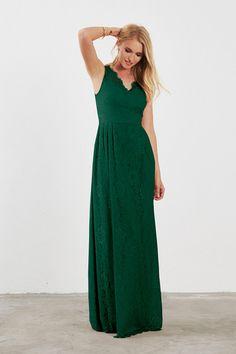 Weddington Way Ada Bridesmaid Dress in Emerald Green in Lace