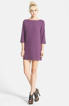 Tildon Boatneck Chiffon Shift Dress available at #Nordstrom