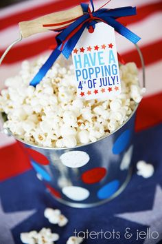 Have a Popping 4th of July FREE Printable. Great idea for neighbors and friends! -- Tatertots and Jello #MichaelsMakers
