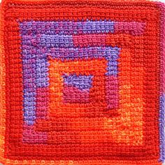 By popular demand - well, a few people on Ravelry  expressed an interest - here is the pattern for my...  Linked Treble Spiral Square   (US ...