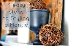 Styling a Mantle in 4 easy steps | I Heart Nap Time