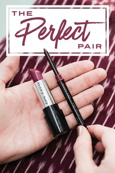 The perfect pair for a lipstick look that lasts. Makeup tip: A natural-looking lip liner should be just a hint deeper than your natural lip color. | Mary Kay