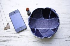 Recycle Old Jeans into a Patchwork Jean Bowl - Henry Happened