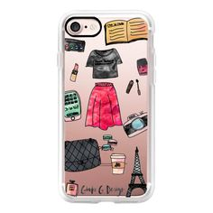 Presque Parisienne / Almost Parisian  (iPhone) - iPhone 7 Case, iPhone... (5570 RSD) ❤ liked on Polyvore featuring accessories, tech accessories, iphone case, apple iphone cases, iphone cases and iphone cover case