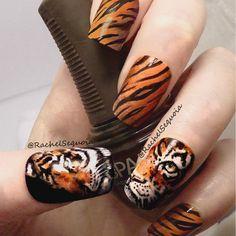 tiger by rachelsequoia #nail #nails #nailart