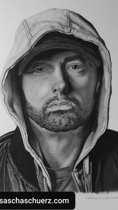 How to draw Eminem by Sascha Schürz - Covid Logisn Game Of Thrones, Drawing Tutorials For Beginners, Beginner Art, Cool Art, Awesome Art, Face Art, Eminem, Art Sketches, Pencil Drawings