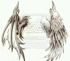 I want this on my back one day but the wings on opposition sides with nightmare tattooed down middle