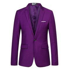 Men Slim Fit Purple Blazer and Suit Jacket Fashion Wedding Prom Blazers for Men Prom Blazers For Men, Jacket Style, Suit Jacket, Purple Blazers, Wedding Styles, Wedding Ideas, Phone Wallpapers, Formal Wear, Groomsmen