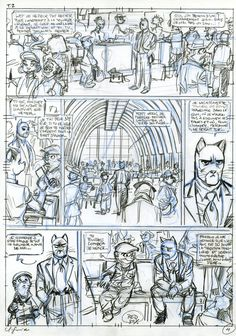 Blacksad 05 ( Amarillo ) by Juanjo Guarnido, Juan Diaz Canales - Comic Strip