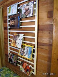 Old crib to magazine rack