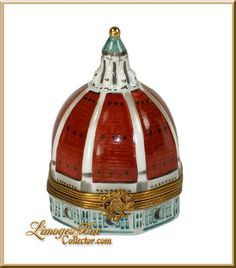 The Magnificent Duomo of the Basilica di Santa Marria del Flore, Florence, Italy - a Limoges box by Beauchamp Limoges www.LimogesBoxCollector.com