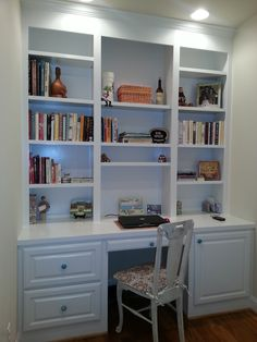 Finished bookcase desk kitchen nook!