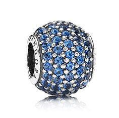 Genuine 925 Sterling SilverFits Pandora and Chamilia BraceletsBlue CZ CrystalsFits Necklaces