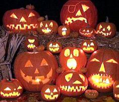 Funny pumpkin lanterns
