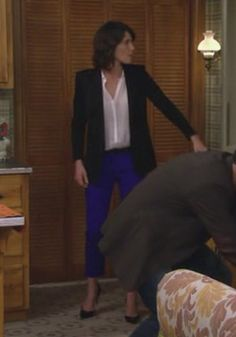Robin's electric blue pants on How I Met Your Mother.  Outfit details: http://wornontv.net/2347/