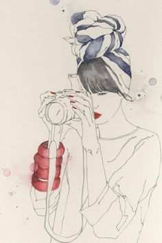 Emma Leonard's fashion illustrations by pam