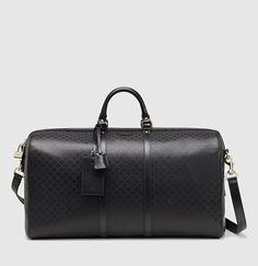 Gucci bright diamante leather carry-on duffle bag