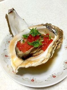 「岩牡蠣のイタリア風、トマトバジル!」岩牡蠣をおしゃれにアレンジしてみました。【楽天レシピ】