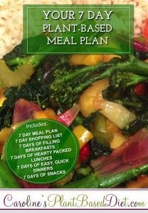 Confused about following a whole food, plant-based diet meal plan? Then my 7 Day Plant-Based Meal Plan is for you!