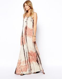 ASOS ASOS Maxi Dress In Hand Tie Dye - Multi