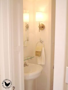 One of my all time favorite accomplishments for the Logan house was adding a half bath. When we bought the house, it had only one bathroom and four bedrooms. Which is just not acceptable, and the other problem was that the inhabitants of theupstairsrooms would have to come all the way downstairs to use …