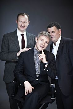 What in the world is Moffat doing to Martin's head, he's like sniffing it.