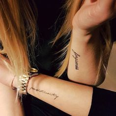 Here are Tiny Wrist Tattoo Ideas for Women. Hope you'll like all of these tattoos ideas for you and people you like. You can suggest others to have these tattoos by sharing these ideas with others. Smal Tattoo, Tattoo Femeninos, Forarm Tattoos, Word Tattoos, Tattoo Fonts, Mini Tattoos, Body Art Tattoos, Sleeve Tattoos, Tatoos