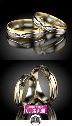 Anillos De Boda Oro Blanco / Oro amarillo 750_PD155_S-765  ✿ Joyas para hombres especiales - lujo ✿ ▬► Ver oferta: http://comprar.io/goto/B01DPSZJZO
