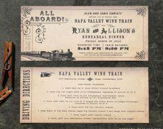 Diseño de ticket de invitación de boda por DesignedWithAmore