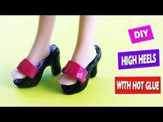 DIY HOT GLUE BARBIE SHOES - Simplekidscrafts - YouTube