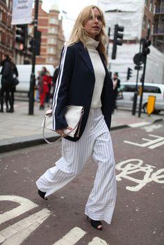 Image of Street Style: London Fashion Week Fall 2014 Part 3 Only Fashion, Fashion News, High Fashion, Danish Street Style, Fashion Pants, Fashion Outfits, Dressed To The Nines, Street Chic, London Fashion