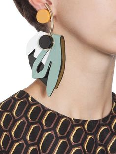 Shop Women's Marni Earrings on Lyst. Track over 1663 Marni Earrings for stock and sale updates. Contemporary Jewellery, Modern Jewelry, Jewelry Art, Jewelry Accessories, Fashion Accessories, Fashion Jewelry, Bridal Jewelry, Leather Earrings