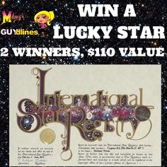 Win a lucky star! You get to name it whatever you want! #gifts ends 12/3