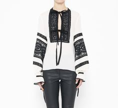 Andrew Gn White And Black Top | VAUNTE