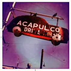 Acapulco Drive Inn Southtown San Antonio Texas Photographer Car Sign Birds Sky Neighborhood IMG_1704 by Dallas Photographer David Kozlowski, via Flickr