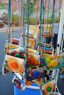 Trash to Treasure - recycling containers Camping Crafts, Fun Crafts, Paper Crafts, Milk Carton Crafts, Diy For Kids, Crafts For Kids, Craft Projects, Projects To Try, Recycling Containers