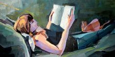 Leyendo a E.A.Poe. Amaro Cimarra, Spanish painter.