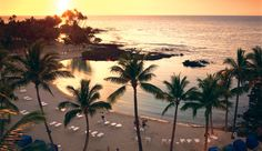 Let's start with a sunset beach enclosed by lava in the beautiful Islands of Hawai'i #JetsetterCurator