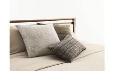 Silk Pillow in Chevron Block