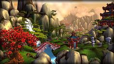 World of Warcraft: Mists of Pandaria  somewhere in the Jade Forest