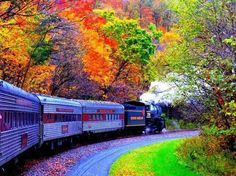 Southern Maryland symphony of color train ride